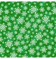 Christmas seamless pattern with white green vector image vector image