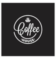 coffee king logo on black background vector image vector image