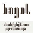 condensed original bold display font design vector image