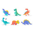 cute prehistoric animals vector image