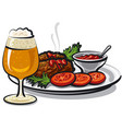 cutlets with beer vector image vector image