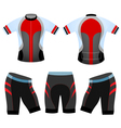 Cycling vest team vector image vector image