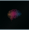 digital ai brain logo innovation and education vector image