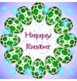 easter eggs circle green circles vector image vector image