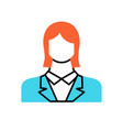 employee woman flat icon vector image