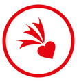 falling heart rounded icon vector image