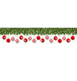 festive christmas or new year garland christmas vector image vector image