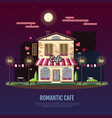 flat style modern icon design of romantic cafe vector image vector image