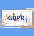gdpr official regulations flat website vector image