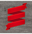 Grey Wood Board With Red Ribbon vector image vector image