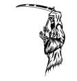 grim reaper holding flower vector image