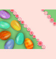 happy easter abstract background with realistic vector image vector image