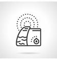 Humidifier black line icon vector image vector image