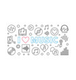 i love music horizontal in vector image