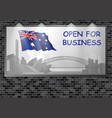 illuminated advertising billboard australia open b vector image vector image