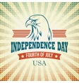 Independence Day holiday card with typography and vector image vector image