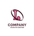 l company name design pink beautity logo design vector image