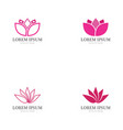 lotus flower logo and symbol icon vector image vector image