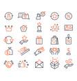 loyalty program shopping bonus system icons vector image vector image