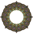 Multicoloured frame mandala Design element in the vector image