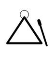 music triangle icon vector image