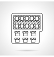 Painting monochrome line icon vector image vector image