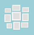 picture frame isolated mint background vector image vector image