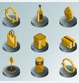 recycling color isometric icons vector image