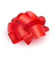 ribbon bow for present isolated vector image vector image