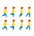 running boy animation sprite set 8 frame loop vector image