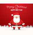 santa claus in winter snowy forest vector image vector image