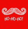 santa moustache and ho-ho-ho words vector image vector image