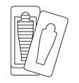 Sarcophagus icon outline style vector image vector image