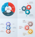 set 4 infographic templates with 3 options vector image vector image
