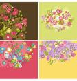 set floral vector image vector image