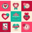 Set of Valentines day typographical backgrounds vector image vector image