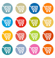 Shopping Cart Basket Web Symbols Icons Set in vector image vector image