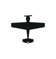 simple black propeller plane icon on white vector image