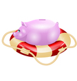 small piggy bank vector image vector image