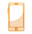 smartphone device isolated icon vector image vector image