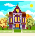 Solar autumn in idyllic park vector image