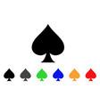 spades suit icon vector image vector image
