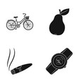 sports nicotine and other web icon in black style vector image vector image