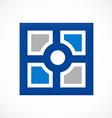 square decorative window mozaic logo vector image vector image