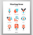 startup icon flat pack vector image
