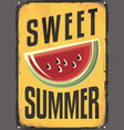 sweet summer vintage sign vector image vector image