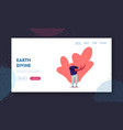 teenager wearing modern clothes landing page vector image