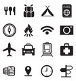 traveling and transport icons vector image vector image