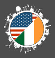 usa and ireland industry concept vector image vector image