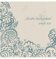 Vintage background in Oriental Style vector image